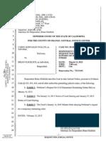 Brian Glicklich Respondent vs. Carol Wallin Plaintiff Request for Judicial Notice