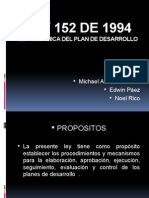 Presentación ley 152 de 1994