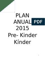 Plan Anual 2015 Kinder