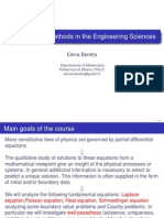 Analytical Methods for Engineering - Slides of the Course (Lessons 1-8)