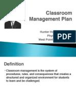classroom management plan - holt