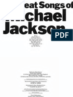 Michael Jackson - The - Great Songs of - Book