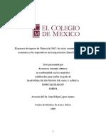 ChIna a la OMC tesis de Maestría del COLMEX