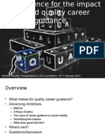 The evidence for the impact of good quality career guidance