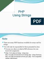 Using PHP Strings
