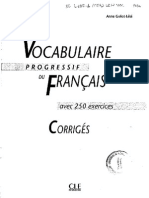 Vocabulaire Progressif Du Francais Intermediaire Corriges