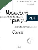 Vocabulaire Progressif Du Francais Intermediaire Corriges