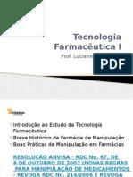 Tecnologia Farmacêutica I