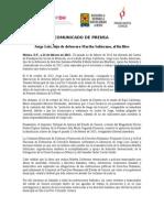 150224 COMUNICADO_Liberación Hijo Defensora Martha Solorzano
