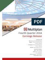 Earnings Release 4Q14