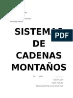 Sistema de Cadenas Montañosas todos los tipos