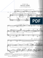 Alfred Reed Ballade Score