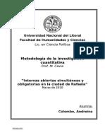 Análisis de la implementación de internas abiertas en Rafaela