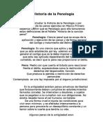 Breve Historia de La Penología
