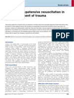 Resuscitation in the management of trauma