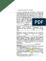Formato s.a. Acta Constitutiva