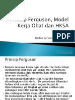 5.Prinsip Ferguson, Model Kerja Obat HKSA