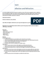 practical experiment- reflection and refraction 3