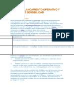 Material Adicional- Apalancamiento Operativo y Analisis de Sensibilidad