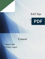 SAS Tips