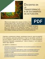 Maestros en la transformación de escenarios educativos