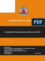 Immediate Post-Anaesthesia Recovery 2013