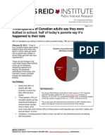 Angus Reid Institute Survey on Bullying, Canada