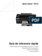 Manual de Impresora Epson Stylus TX210