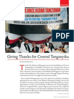 Giving Thanks for Central Tanganyika