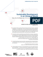 Sustainable Development in an Unequal World