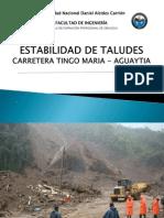 Estabilidad de Talud Tramo Tingo-Aguaytia