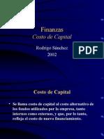 Clase Costo de Capital