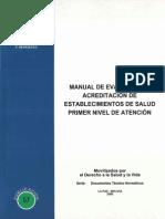 Manual de Evaluacion y Acreditacion Primer Nivel