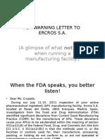 FDA Warning Letter Ppt
