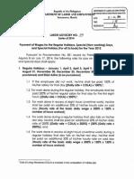 EDSA Holiday Pay Rules 2015