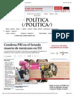 17-02-15 Condena PRI en El Senado Muerte de Mexicano en EU - Grupo Milenio