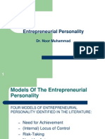 Lecture 5 - Entrepreneurial Personality