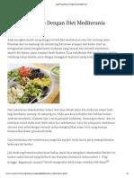 Jaga Pola Makan Dengan Diet Mediterania