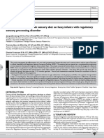 the effect of a two-week sensory diet on fussy infants with regulatory sens