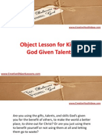 Object Lesson for Kids - God Given Talents