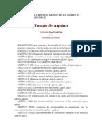 Tomas_comentario Al Libro de Aristoteles Sobre El Sentido y Lo Sensible