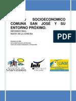 Estudio Socioecoonomico Comuna San Jose y Su Entorno Proximo