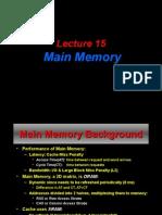 Lec 15 MainMemory