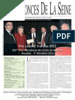 Edition du Lundi 12 decembre 2011