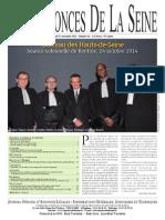 Edition du Lundi 17 Novembre 2014