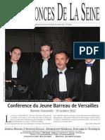 Edition du jeudi 25 octobre 2012