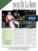 Edition du lundi 12 mars 2012
