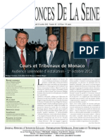 Edition du lundi 15 octobre 2012