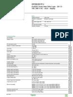 Zelio Logic Sr3b261fu, Data Sheets