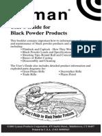 Lyman Blackpowder  Firearms User Guide